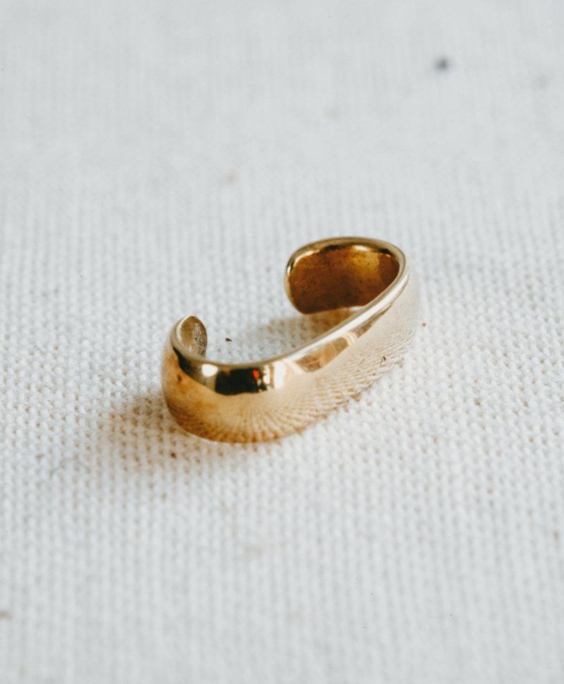 Minimalistic Ear Cuff Gumption, Gold Plated