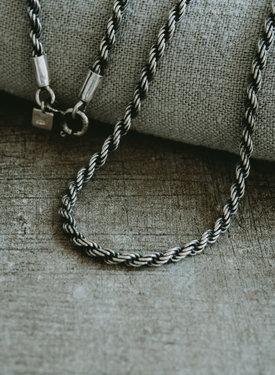 Zilveren Rope Mannen Ketting  Stelvio