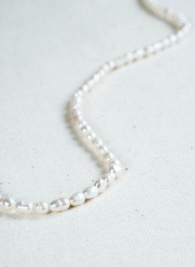 Pearl Necklace Benya, Silver