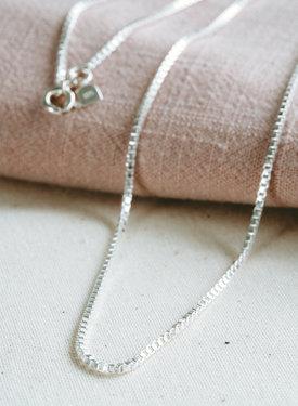 Square Snake Chain Necklace Lesedi, Silver