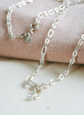 Chunky Oval Necklace Artemis, Silver