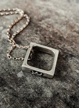 Cube Pendant Inguz