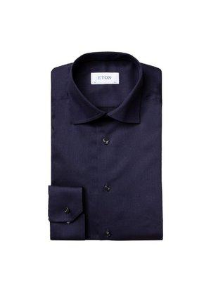 Eton Overhemd Donkerblauw LM
