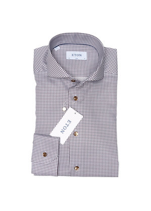 Eton Overhemd Bruin