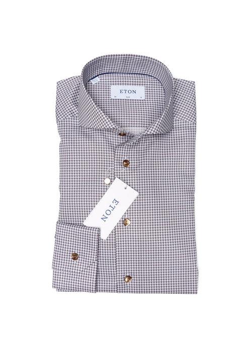 Eton Eton Overhemd Bruin 100001044 35