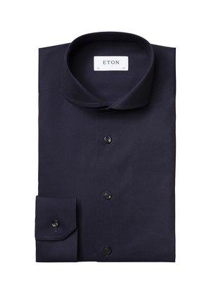 Eton Overhemd Navy Blauw