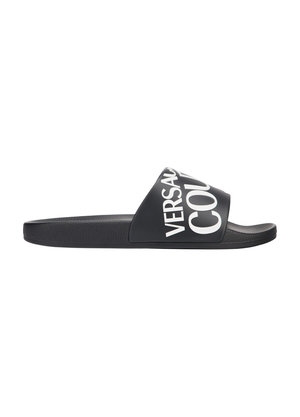 Versace Jeans Couture Logo slippers Zwart