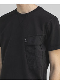 Butcher of Blue Butchers of Blue t-shirt km Anthraciet duck tee s/s off black