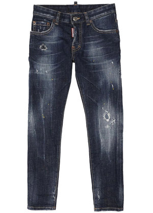 Dsquared2 Kids Skater jeans icon Blauw