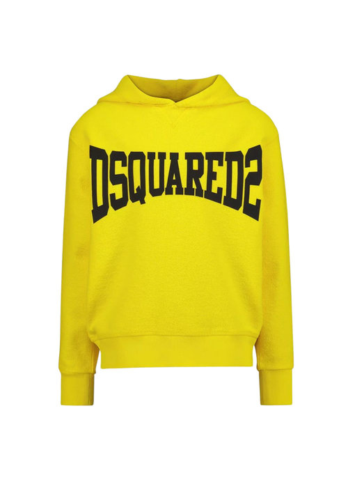 Dsquared2 Kids Dsquared boys Hoodie logo Geel dq0071 - d005u dq205