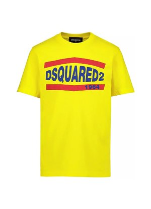 Dsquared2 Kids Logo shirt Geel