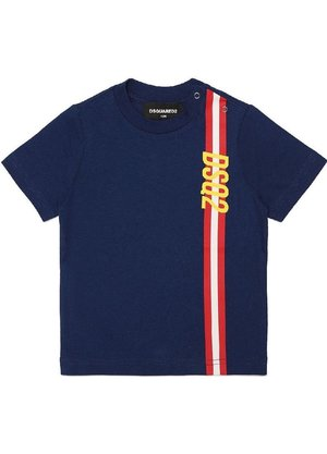 Dsquared2 Kids Striped T-shirt Blauw
