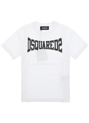 Dsquared2 Kids T-shirt Wit met logo