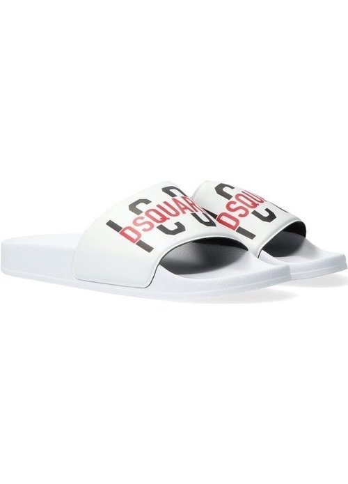 Dsquared2 Kids Dsquared Kids ICONS Slippers Wit dq0331 - p4137 t1003