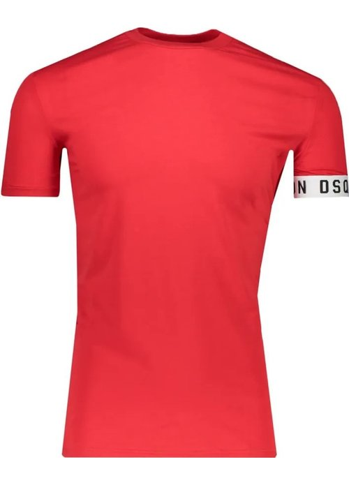 Dsquared2 Dsquared heren t-shirt km Rood d9m3s3450 613-red/white