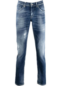 Dondup Dondup george distressed skinny jeans blauw up232-ds0107u-bq4 - 800