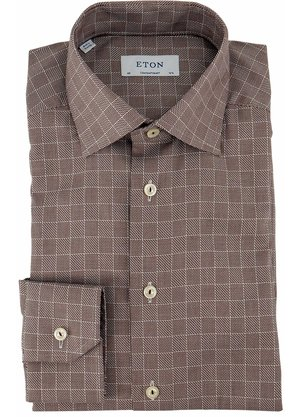 Eton Contemporary Shirt Bruin