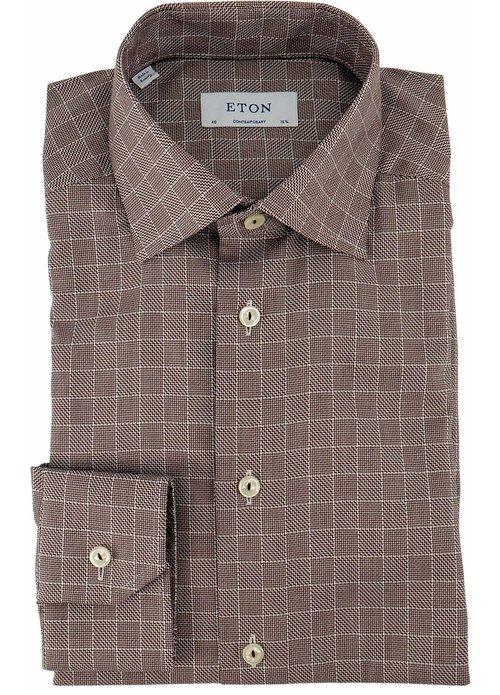 Eton Eton contemporary shirt bruin 100002522 67