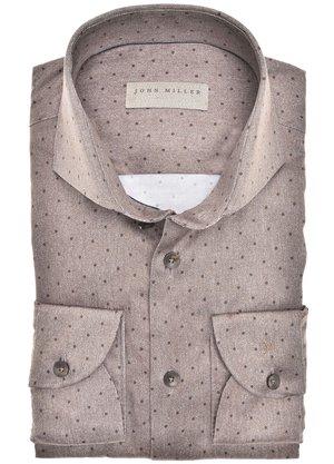 John Miller Overhemd Bruin
