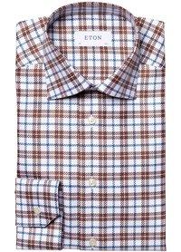 Eton Eton overhemd bruin 100002457 37