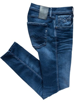 Replay Slim Fit Anbass Jeans Blauw
