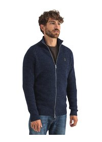 Butcher of Blue Butchers of Blue andes cardigan vest donkerblauw san marino blue