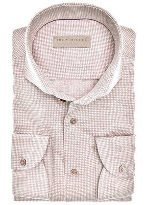 John Miller Overhemd Beige