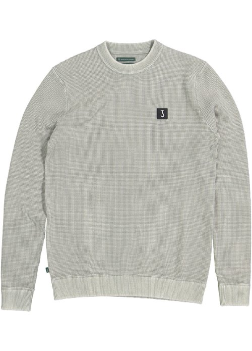Butcher of Blue Butchers of Blue square crew sweater groen m2126019 791