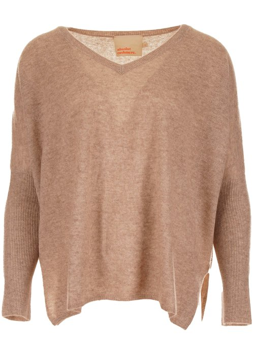 Absolut Cashmere  Absolut Cashmere camille trui taupe ac122011c