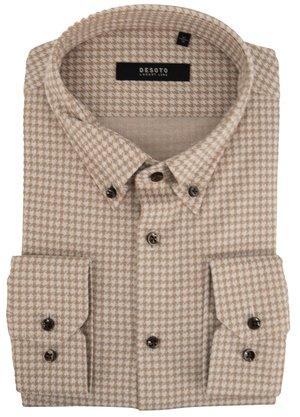 Desoto Luxury Line Overhemd Beige