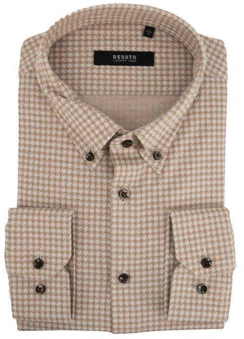 Desoto Desoto luxury line overhemd im casual beige 49803[30 840