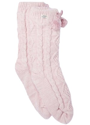 Ugg Pom Pom Fleece Sokken Roze
