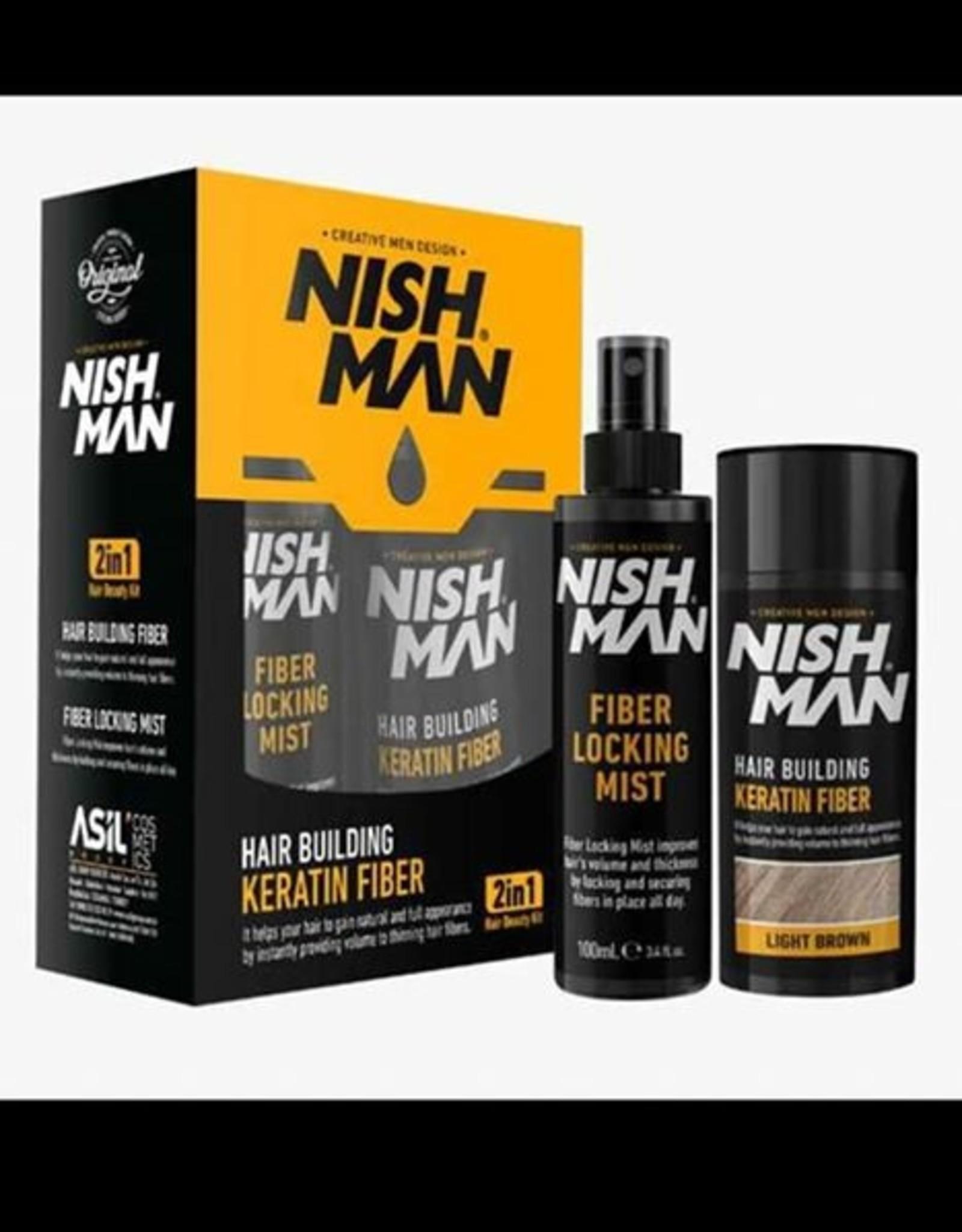 Nishman Hair Building Fiber + Mist Spray