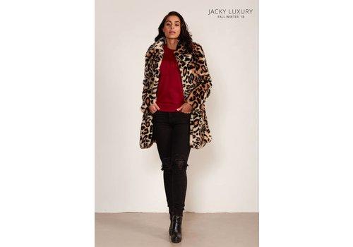 Jacky Luxury Faux fur jas met luipaarddessin - Jacky Luxury