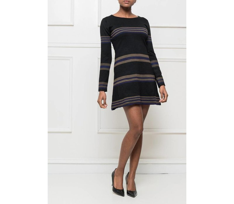 flared sweater black - ONE SIZE