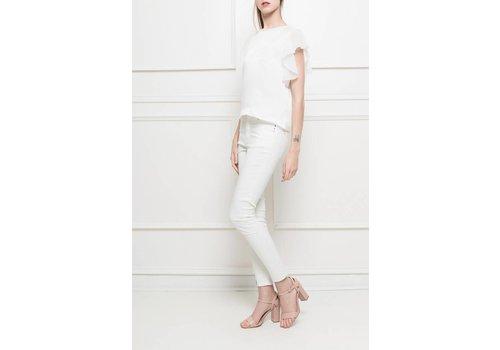 Clashy Silky top white