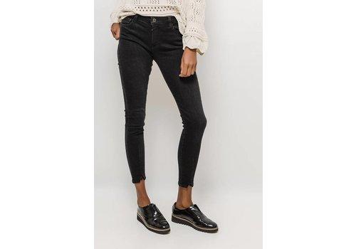Queen hearts Queen hearts skinny jeans with splits - zwart