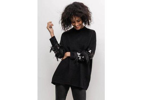 Clashy Fancy sweater zwart - ONE SIZE