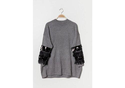 Clashy Fancy sweater grijs- ONE SIZE