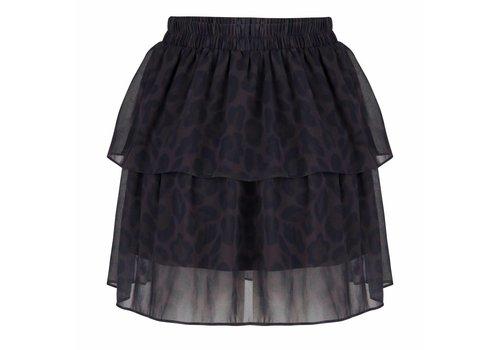 Jacky Luxury Jacky Luxury - Gelaagde rok met luipaard print