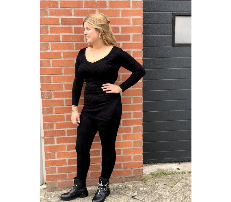 Inspired knit pak zwart - ONE SIZE