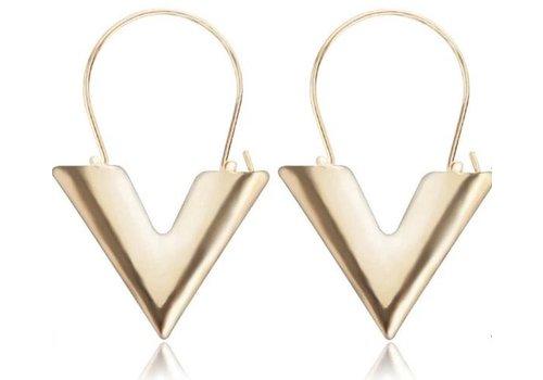 yehwang LV inspired - oorbellen goud