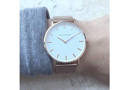 Clashy Inspired horloge - roségoud/wit