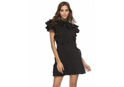 Clashy Clashy - Ruffle dress black