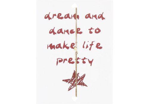 Lucies Amsterdam Wenskaart dream and dance to make life pretty