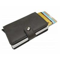 Compacte Pasjeshouder Portemonnee – Vintage Kaarthouder Zwart