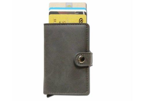 Clashy Compacte Pasjeshouder Portemonnee – Vintage Kaarthouder Zwart