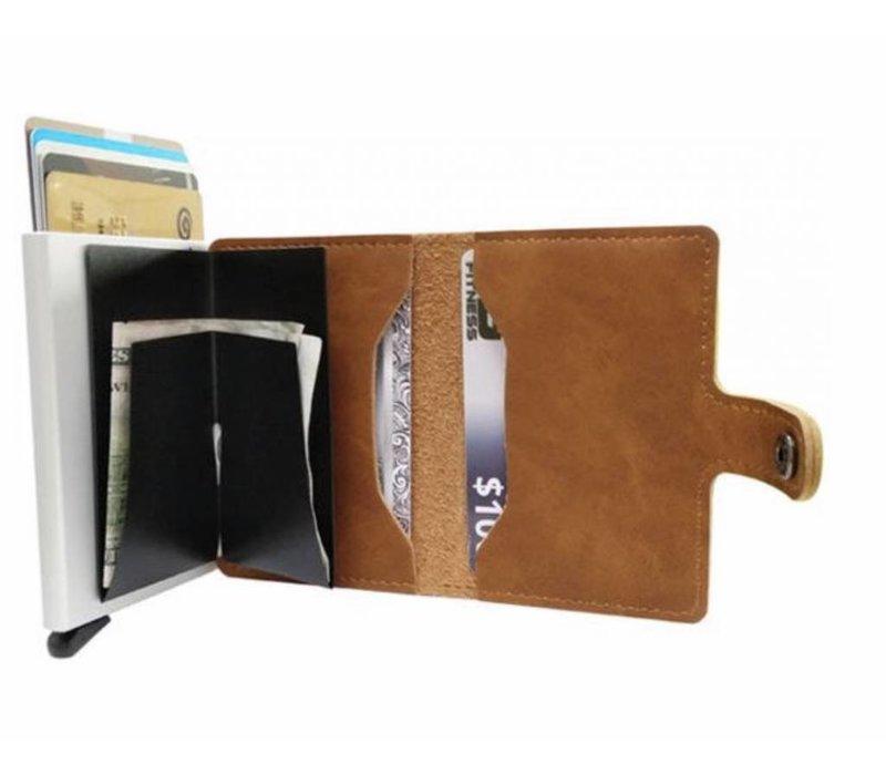 Compacte Pasjeshouder Portemonnee – Vintage Kaarthouder Bruin
