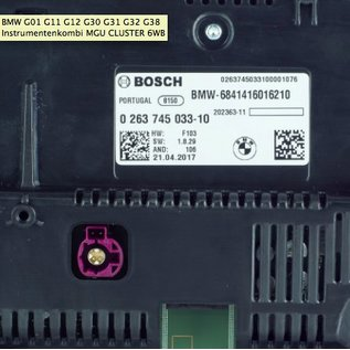 BMW BMW G01 G11 G12 G30 G31 G32 G38 Instrumentenkombi MGU CLUSTER 6WB