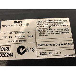 BMW E65 CD wisselaar dashboard